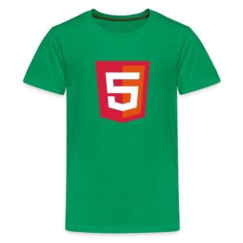 HTML5 kiddie coder - Teenager Premium T-shirt