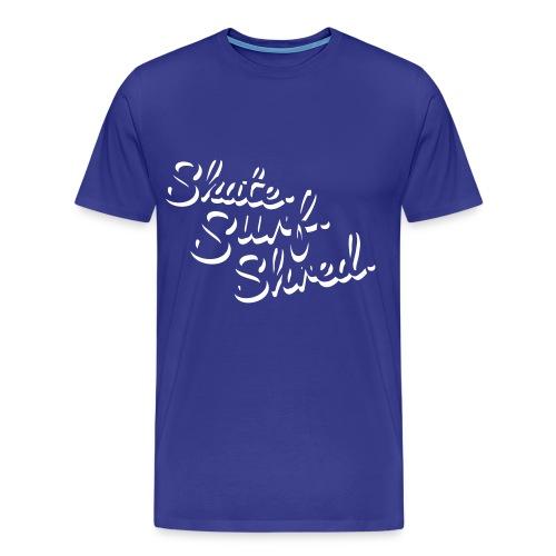 skatesurfshred men - Männer Premium T-Shirt