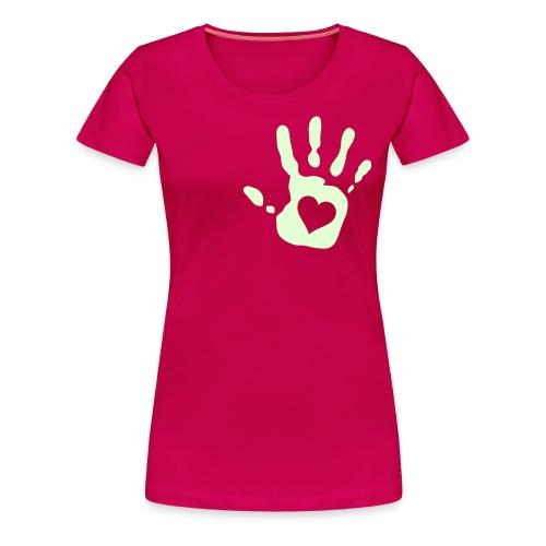 CAMISETA MANO CORAZON - Camiseta premium mujer