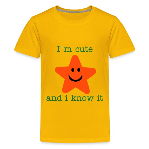 I'm cute and i know it - Short sleeve - Teenage Premium T-Shirt