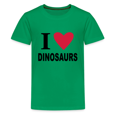I love Dinosaurs Kids' Shirts