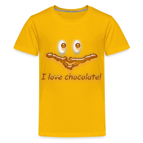 I love chocolate! - Teenager Premium T-Shirt