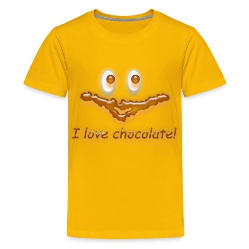 I love chocolate! - Teenager Premium T-Shirt