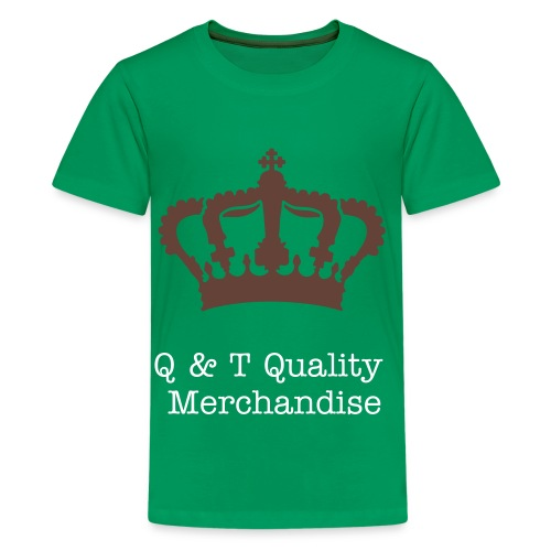 Q & T Quality Shirt (Green) - Teenage Premium T-Shirt