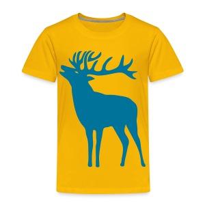 tiershirt t-shirt hirsch röhrender brunft geweih elch stag antler jäger junggesellenabschied förster jagd - Kinder Premium T-Shirt