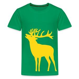 tiershirt t-shirt hirsch röhrender brunft geweih elch stag antler jäger junggesellenabschied förster jagd - Teenager Premium T-Shirt