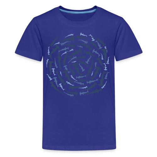 tiershirt hammerhaie hammerhai hai shark tauchen taucher dive diver hammer nageln ozean fisch fish whale - Teenager Premium T-Shirt