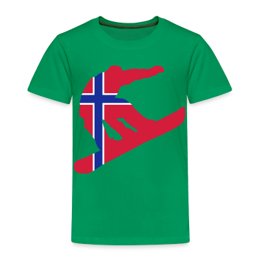 Snowboarding, Winter, Snow, Schnee, Norge, Noreg, Norway, Flags, Flaggen, Fahnen, Länder, countries, www.eushirt.com Kinder T-Shirts