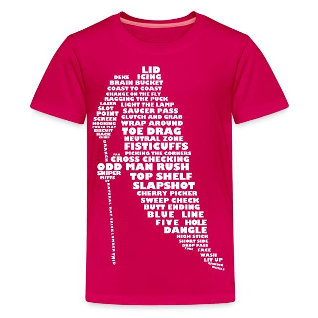Hockey Player Typography Teenager T-Shirt (light print)