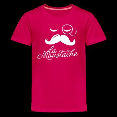 La Moustache Typography Kids' Shirts