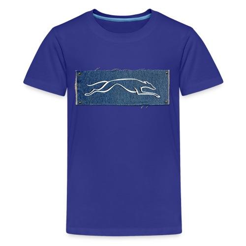 Lévrier stylisé. D'Jin - T-shirt Premium Ado