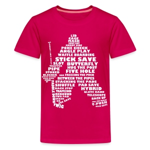 Hockey Goalie Terminology Teenager T-Shirt  - Teenage Premium T-Shirt