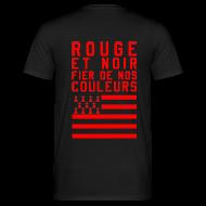 Tee shirts ~ Tee shirt Homme ~ Tee Shirt Rouge et Noir