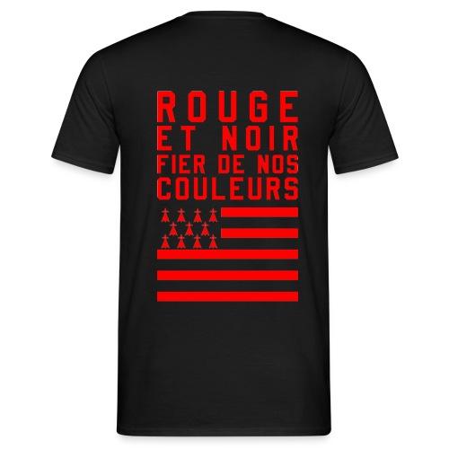 Tee Shirt Rouge et Noir - T-shirt Homme