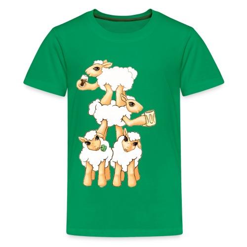 Moutons fêtant la St Patrick - T-shirt Premium Ado