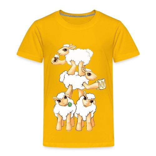 Moutons fêtant la St Patrick - T-shirt Premium Enfant