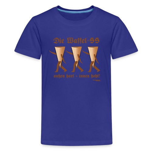 Die Waffel-SS – außen hart, innen hohl - Teenager Premium T-Shirt