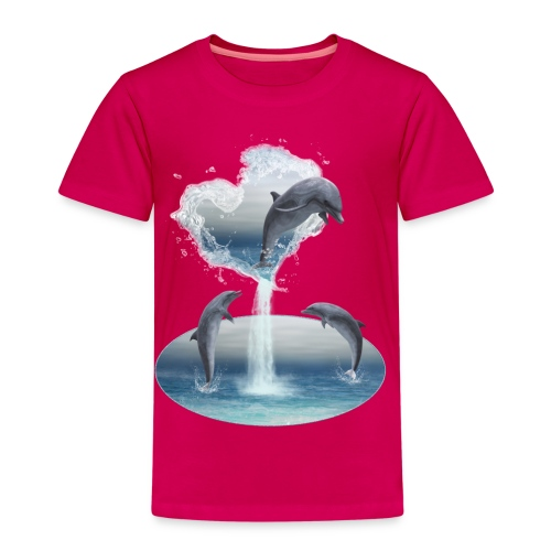 The Heart From The Dolphins - Kinder Premium T-Shirt