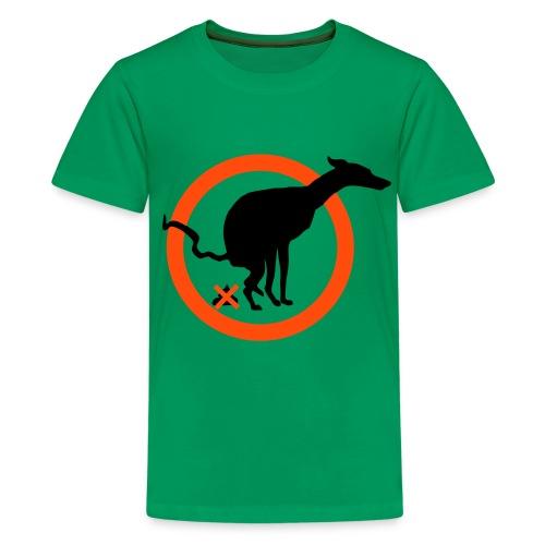 Lévriers stylisés. PatchworkPropreté - T-shirt Premium Ado