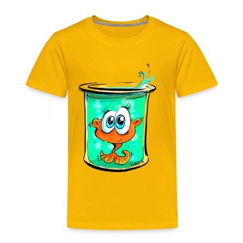 Goldfisch im Glas - Kinder Premium T-Shirt