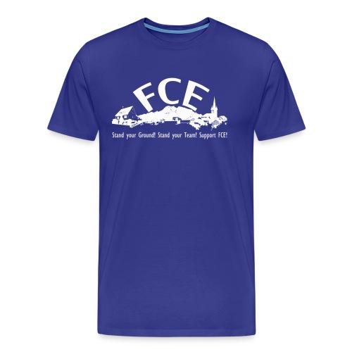FCE 12. Mann Schirt, royalblau, Druck vorne, hinten und Ärmel - Männer Premium T-Shirt