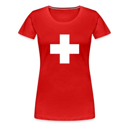 XXXL T-shirt mit Schweizer Kreuz - Frauen Premium T-Shirt