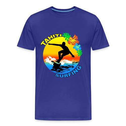 t-shirt tahiti surf design - Men's Premium T-Shirt