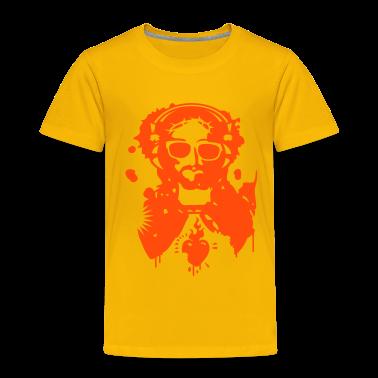 Jesus Graffiti with headphones and sunglasses Kids' Shirts