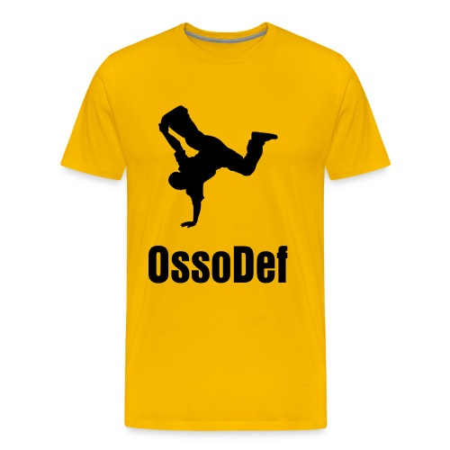 OssoDef Mens Urban T Shirt (Yellow) - Men's Premium T-Shirt