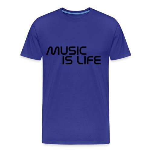 Music Is Life T-Shirt - Mannen Premium T-shirt