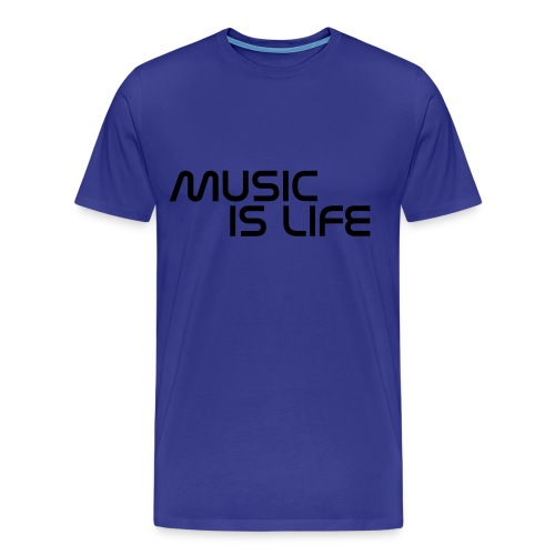 Music Is Life T-Shirt - Mannen Premium T-shirt