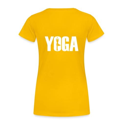 Sun Salute Girl Shirt Yellow - Frauen Premium T-Shirt