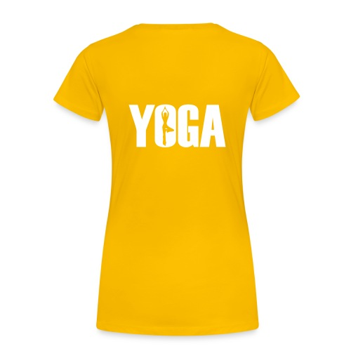 Sun Salute Girl Shirt Yellow - Frauen Premium T-Shirt