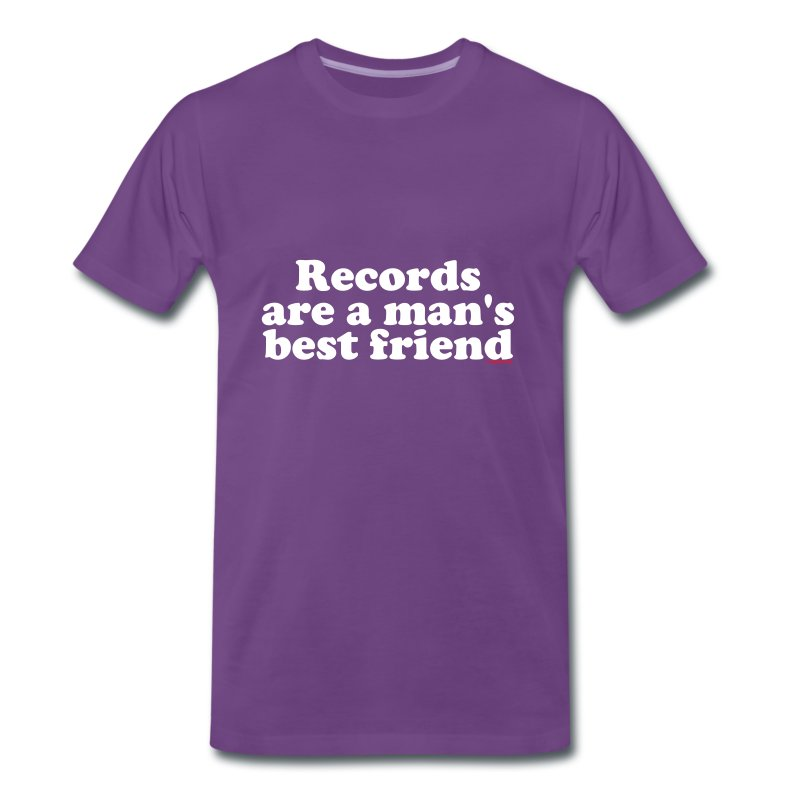 Records are a man bestfriends - T-shirt Premium Homme