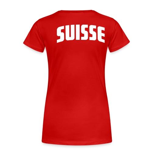 Rückseite: SUISSE - Frauen Premium T-Shirt