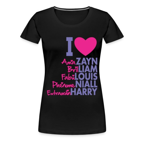 I Love 1D - Women's Premium T-Shirt