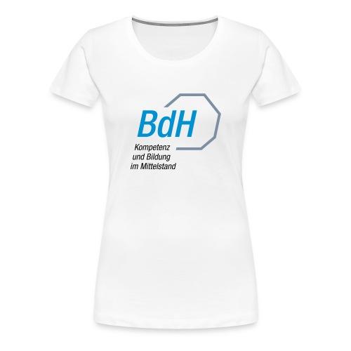 BdH-Logo Frauen weiss - Frauen Premium T-Shirt