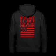 Sweat-shirts ~ Sweat-shirt à capuche Premium pour hommes ~ Sweat à capuche Rouge et Noir