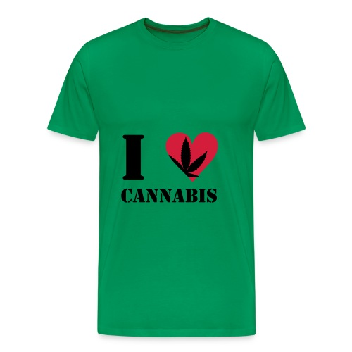 I LOVE CANNABIS - Mannen Premium T-shirt