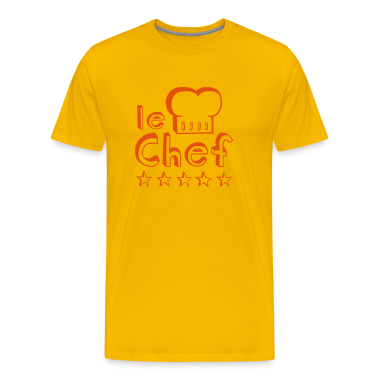 Le Chef father, husband or man master of barbecue, grill and cooking T-Shirts