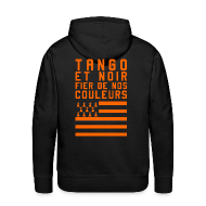 Sweat-shirts ~ Sweat-shirt à capuche Premium pour hommes ~ Sweat à capuche Tango et Noir