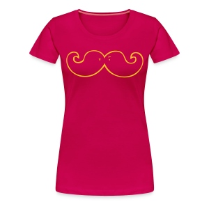 Moustache (f) - Women's Premium T-Shirt