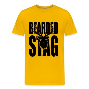The BEARDED Stag - Men's Premium T-Shirt