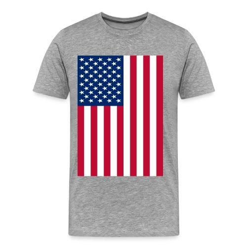 American Flag (box design) - Men's Premium T-Shirt
