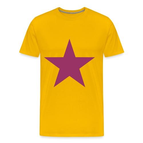 Glitter Ster T-Shirt - Mannen Premium T-shirt