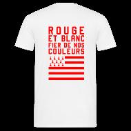 Tee shirts ~ Tee shirt Homme ~ Tee Shirt Rouge et Blanc