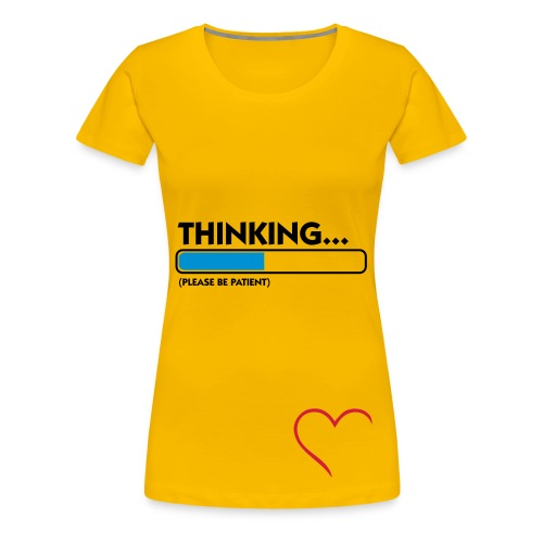 Thinking... - Frauen Premium T-Shirt