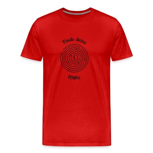 Finde deine Mitte Herren-Shirt - Männer Premium T-Shirt
