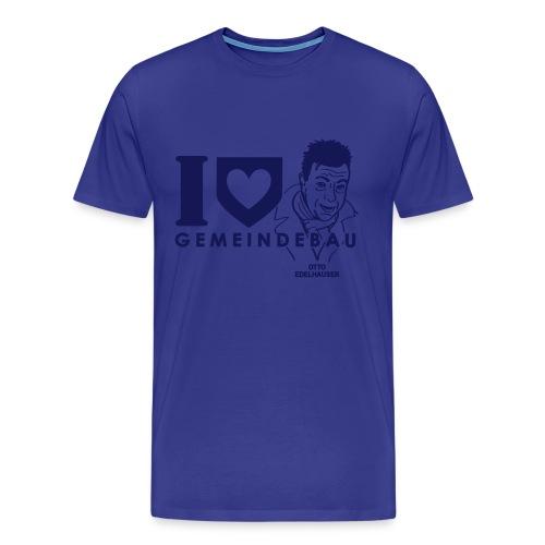 I Love Gemeindebau - Otto Edelhauser (Flockdruck) - Männer Premium T-Shirt