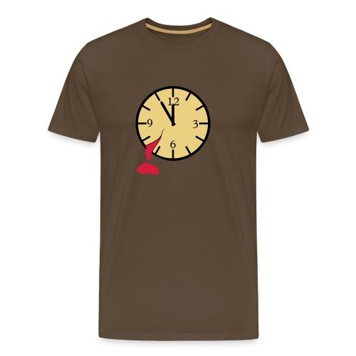 Blutende Uhr - Männer Premium T-Shirt